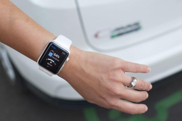 Die Myford-Mobile-App auf einer Apple Watch (Bild: Ford)