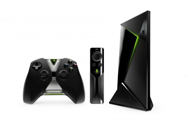 WLAN-Controller, Bluetooth-Fernbedienung und Shield (Bild: Nvidia)