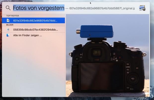 Spotlight lässt natürlichsprachliche Suchen zu. (Bild: Golem.de)