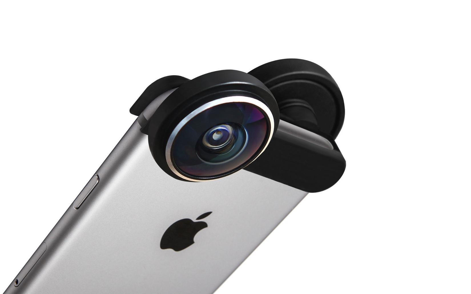 Kamera-Aufsatz: Shot macht aus iPhones 360-Grad-Kameras - Der Shot-Adapter auf einem iPhone (Bild: Shot)