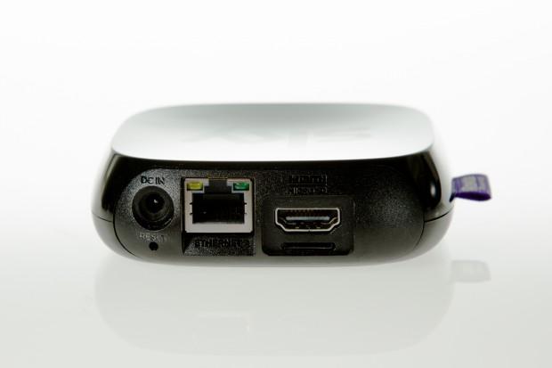 Sky Online TV Box mit Ethernet-Anschluss, HDMI-Buchse und Steckplatz für Speicherkarten (Bild: André Schume/Golem.de)