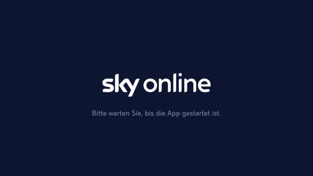 Beim Aufruf der Sky Online App sieht der Nutzer erst einmal eine Weile lang diesen Hinweis. (Screenshot: Golem.de)