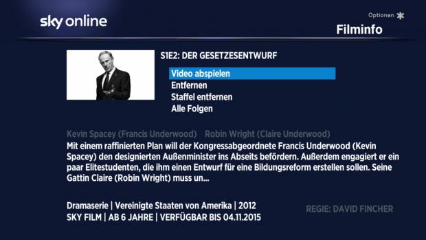 Auch auf der Detailseite wird der Titel der Serie nicht genannt und ein Wechsel zur nächsten Folge ist nicht möglich. (Screenshot: Golem.de)