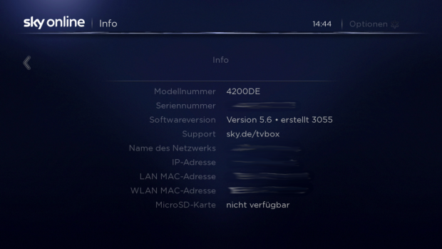 Informationsseite zur Sky Online TV Box (Screenshot: Golem.de)
