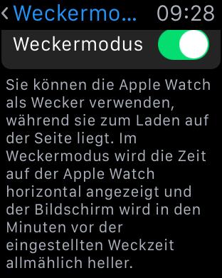 Der Weckermodus (englisch Nightstand Mode) ersetzt die Nachttischuhr nicht komplett. (Screenshot: Golem.de)