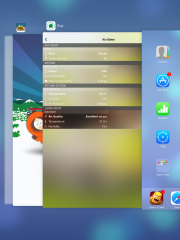 Die neue Multitasking-Übersicht erinnert ein wenig an Android-Entwicklungen. (Screenshot: Golem.de)