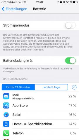 Der Stromsparmodus ist neu. (Screenshot: Golem.de)