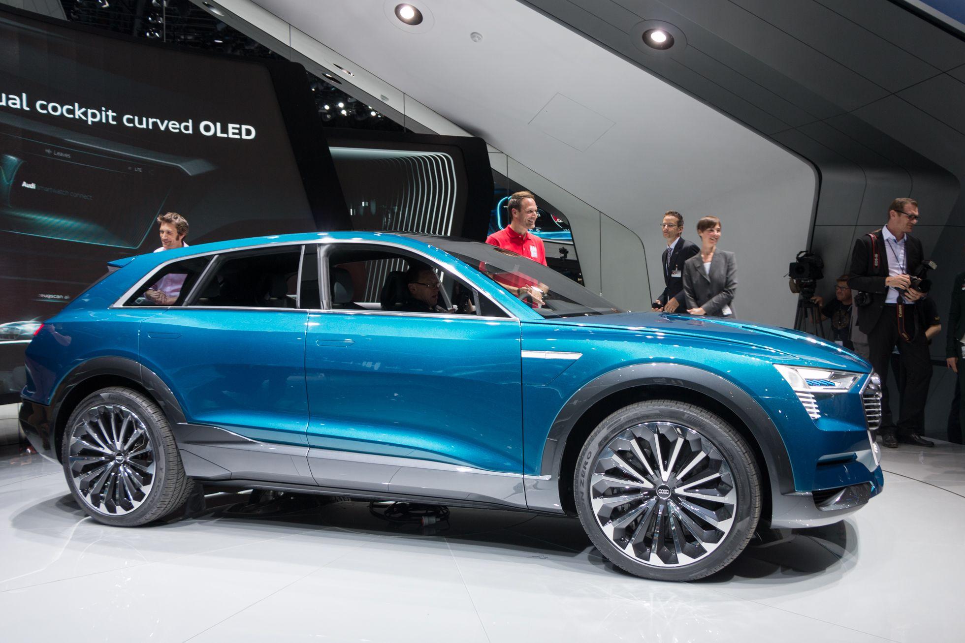 E-Tron Quattro Concept: Audi nennt Details zum neuen Virtual Cockpit - Es ist ein Elektro-SUV mit Allradantrieb. (Foto: Werner Pluta/Golem.de)