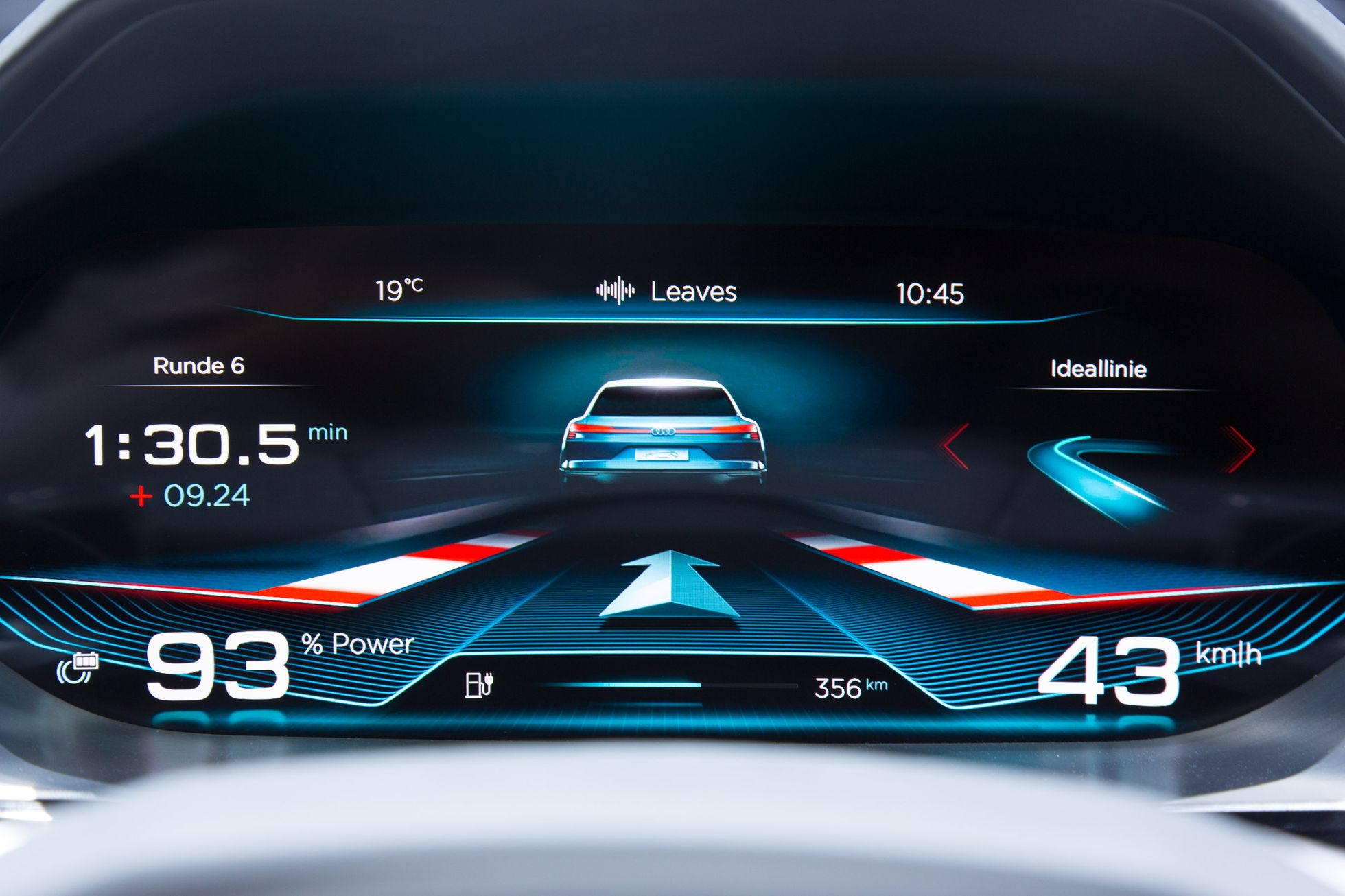 E-Tron Quattro Concept: Audi nennt Details zum neuen Virtual Cockpit - Es zeigt unter anderem auch den Ladestand des Akkus. (Foto: Martin Wolf/Golem.de)
