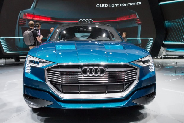 Der E-Tron Quattro Concept von Audi. (Foto: Werner Pluta/Golem.de)