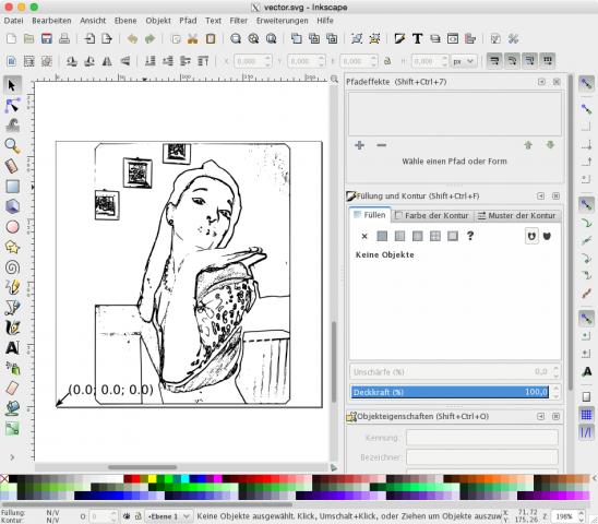 Mit Hilfe von Inkscape konvertierten wir Bitmap-Bilder in Vektorgrafiken, ... (Foto: Alexander Merz/Golem.de)