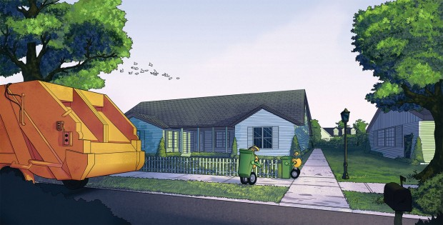 So könnte die Müllentsorgung der Zukunft aussehen. (Bild:  Adrian Wirén, Mälardalens Högskola)