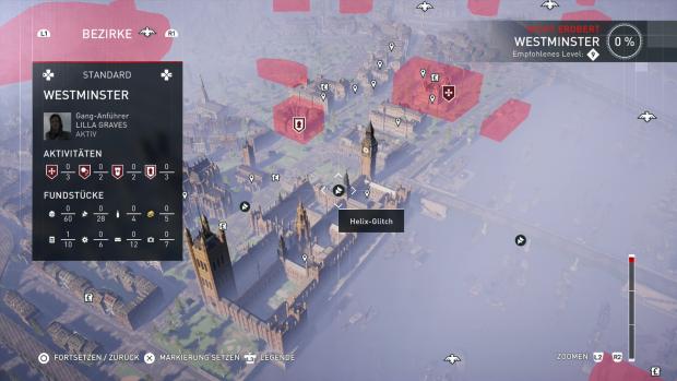 Die neu gestaltete Übersichtskarte zeigt feindliche Gebiete in Rot an. (Screenshot: Golem.de)