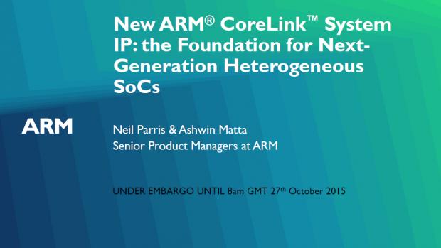 Präsentation zum Corelink CCI-550 und DMC-500 (Bild: ARM)