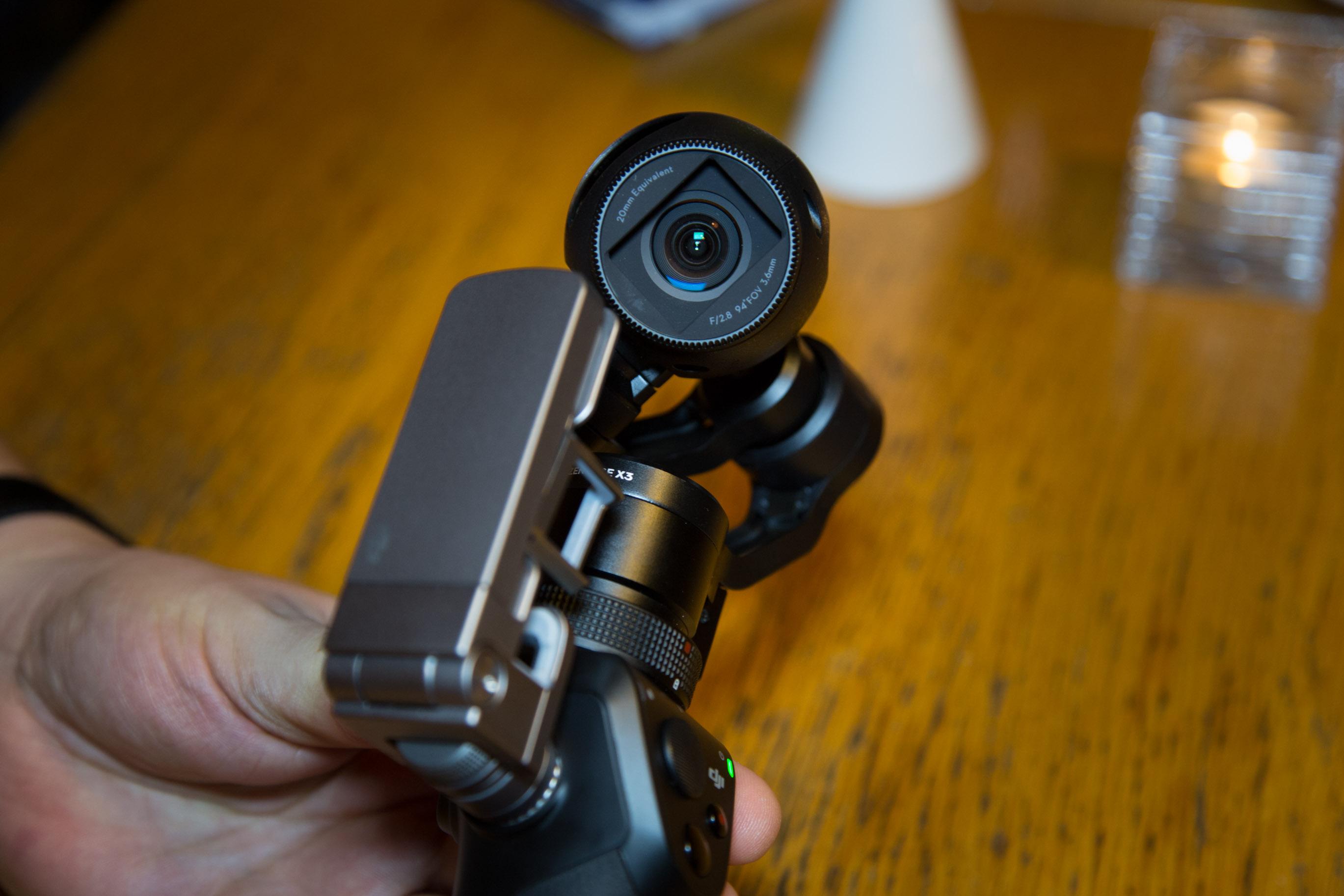 Osmo im Hands on: DJI präsentiert stabilisierte Handkamera für 750 Euro - Die Kamera des Osmo hat 12,4 Megapixel. (Bild: Martin Wolf/Golem.de)