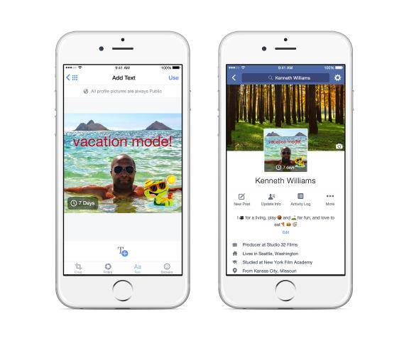 Facebook testet neue Design-Elemente für seine mobilen Apps. (Bild: Facebook)