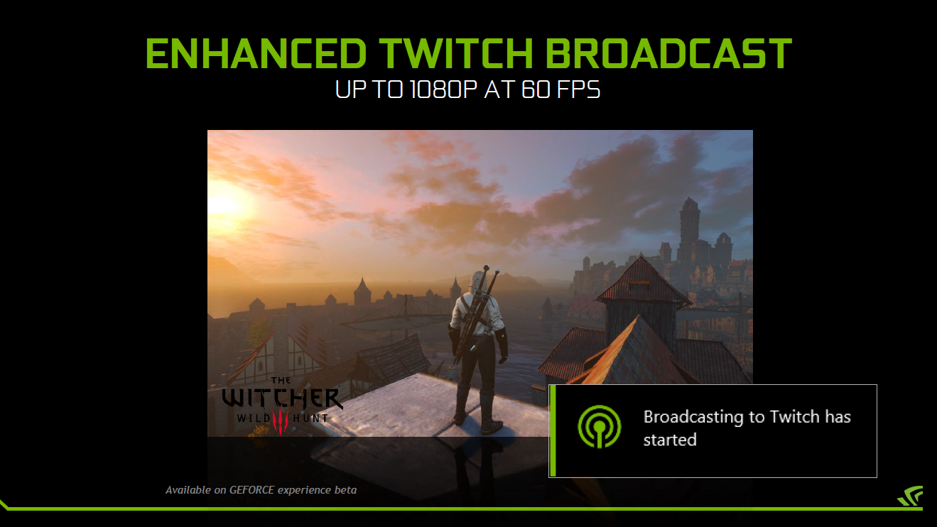 Gamestream: Nvidia streamt PC-Spiele lokal mit Ultra-HD und 60 fps - Twitch-Streaming mit 1080p60 (Bild: Nvidia)