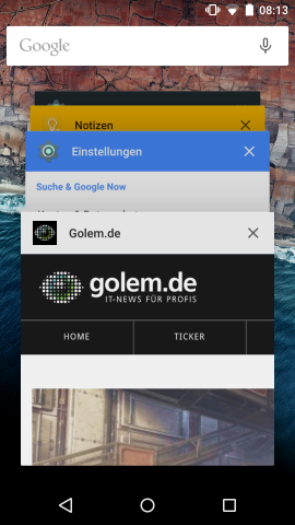 Die Task-Übersicht kann schnell unübersichtlich werden. (Screenshot: Golem.de)