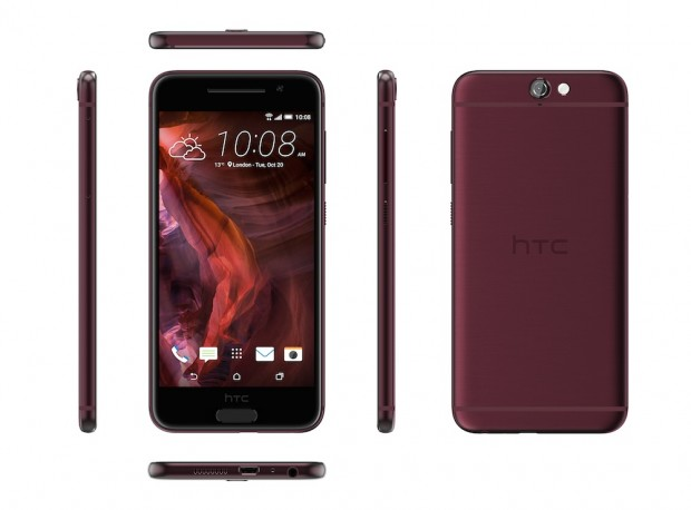 HTC One A9 in Deep Garnet (Bild: HTC)