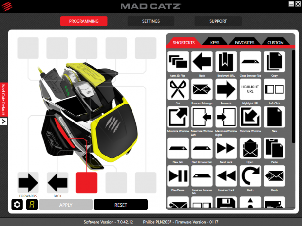 Treiber der Mad Catz Rat Pro X (Screenshot: Golem.de)