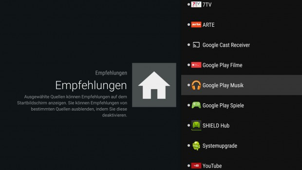 Diese Apps liefern Inhalte in den Empfehlungsbereich. (Bild: Golem.de)