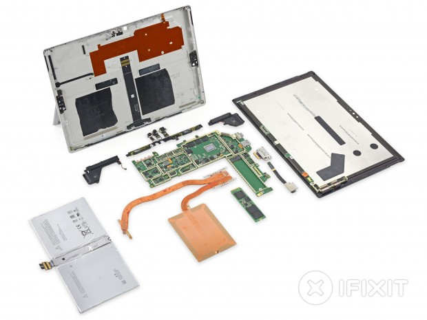 Teardown des Surface Pro 4 mit Core M3 (Foto: iFixit)