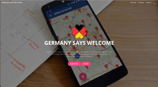 Germany Says Welcome fand bereits bei Jugend Hackt großen Zuspruch. Das junge Team integriert ein Wörterbuch, Freifunk-Hotspots und andere Dienste.