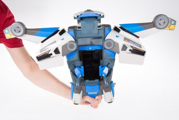 Im Actionmodus blustert sich die Space Hawk auf. (Foto: Martin Wolf/Golem.de)