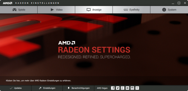 Die neuen Radeon-Settings (Screenshot: Golem.de)