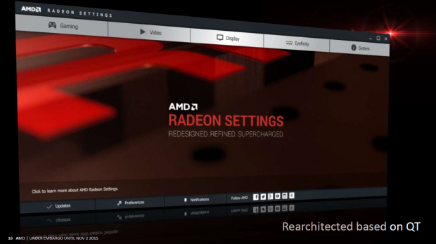 Präsentation zur neuen Radeon Software und den neuen Radeon Settings (Bild: AMD)