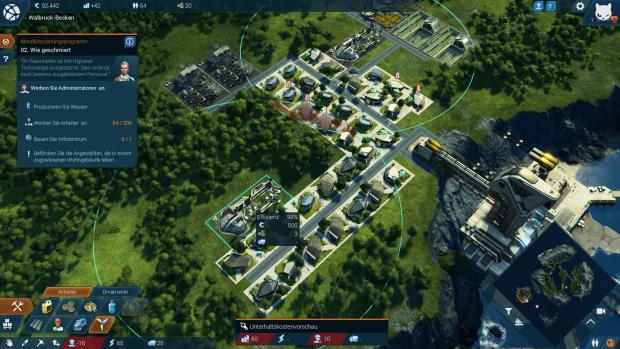 In der gemäßigten Zone bauen wir unsere erste Stadt auf. (Screenshot: Golem.de)