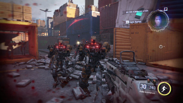 Roboter sind Teil der Infanterie auf den Schlachtfeldern von Black Ops 3. (Screenshot: Golem.de)