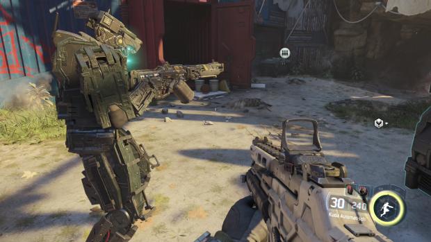Die Roboterkrieger sind schön aufwendig gestaltet und animiert. (Screenshot: Golem.de)