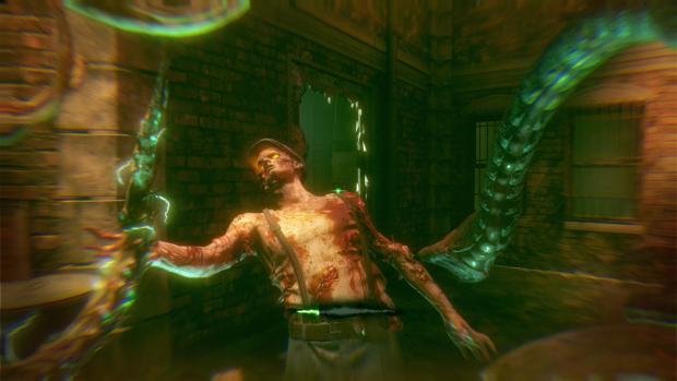 Im Zombiemodus kann der Spieler als Tentakelmonster antreten. (Screenshot: Golem.de)