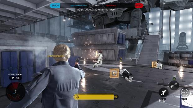 Han Solo räumt in einer Station auf Sullust auf. (Screenshot: Golem.de)