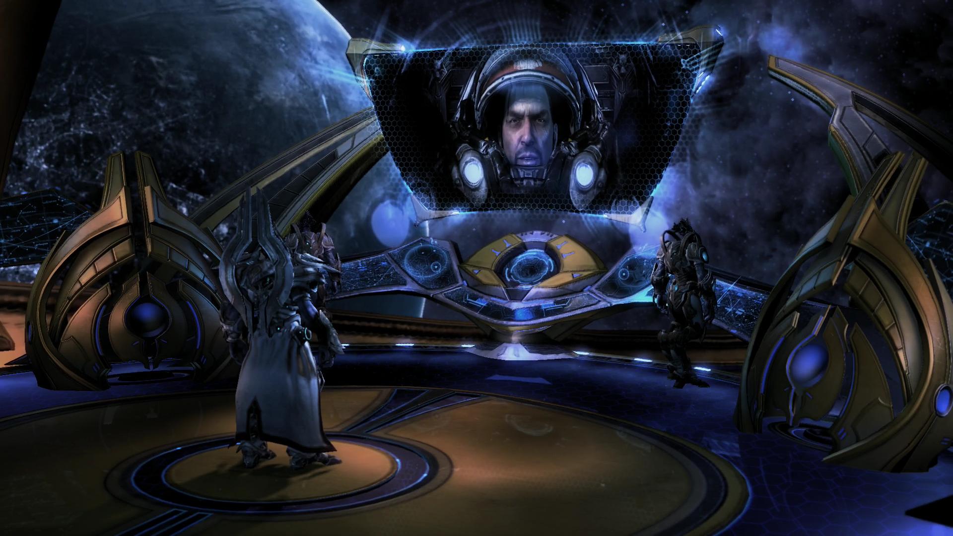 Starcraft 2 3.0 im Test: Grandioses Finale mit den Protoss - Auch der ein oder andere alte Bekannte ist wieder mit von der Partie. (Screenshot: Golem.de)