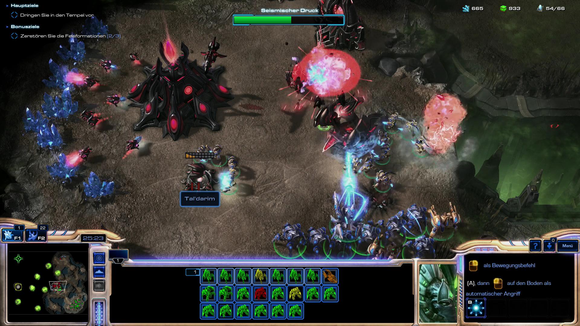 Starcraft 2 3.0 im Test: Grandioses Finale mit den Protoss - Die Grafik ist liebevoll in Szene gesetzt. (Screenshot: Golem.de)