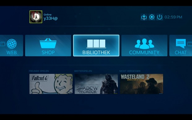 SteamOS bootet in den Big Picture Mode. (Screenshot: Golem.de)