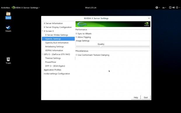 Mit dem Treiberwerkzeug lässt sich das VSync abschalten. (Screenshot: Golem.de)
