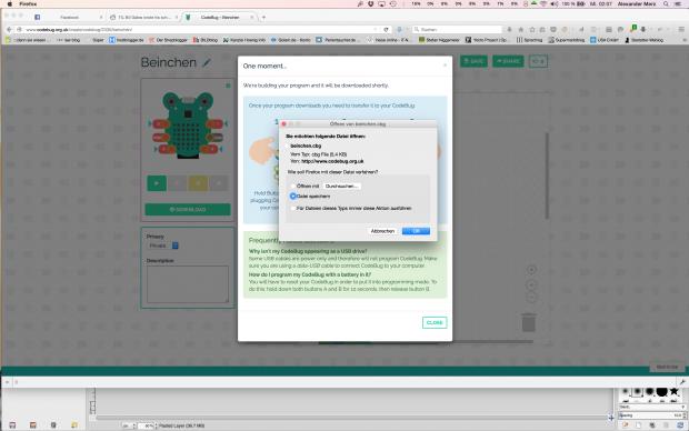 Compiliert wird der Code auf dem Webserver und dann zum Download angeboten. (Bild: Alexander Merz/Golem.de)