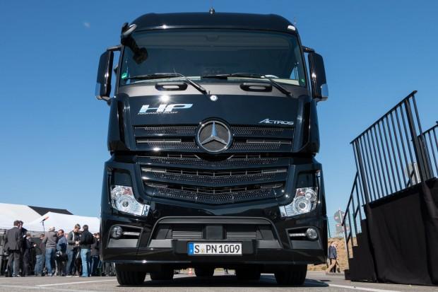 Der Mercedes Benz Actros mit Highway Pilot (Foto: Werner Pluta/Golem.de)