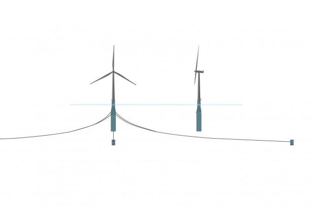Die Windräder werden durch Stahlseilen mit Ankern im Meeresgrund verbunden. (Bild: Statoil)
