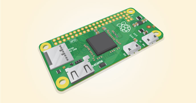 Raspberry Pi Zero: Spar-Pi für 5 US-Dollar - Rendermodell des Raspberry Pi Zero (Bild: Raspberry Pi Foundation)