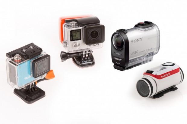 Rollei Actioncam 420, Gopro Hero 4 Black, Sony FDR X-1000 VR und Tomtom Bandit (Bild: Martin Wolf/Golem.de)