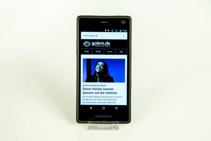 Das Fairphone 2 (Bild: Tobias Költzsch/Golem.de)