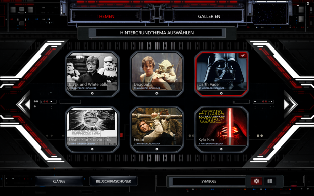 Das Command Center des HP Star Wars Notebook (Screenshot: Golem.de)