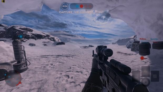 Battlefront läuft auf dem Star Wars Book in 1080p mit niedrigen Details. (Screenshot: Golem.de)