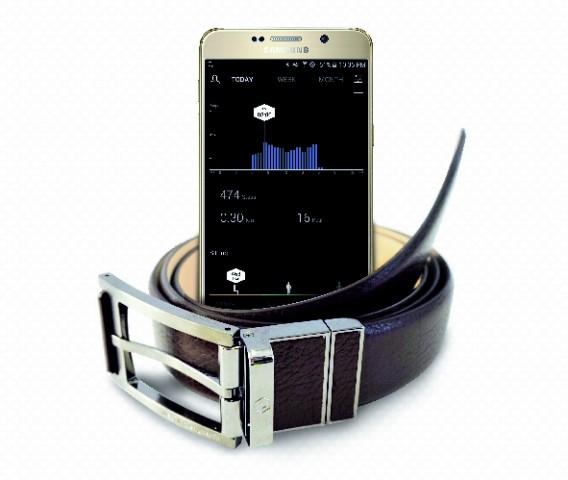 WELT ist ein Gürtel, der dank eingebauter Sensoren Körperwerte messen kann. (Bild: Samsung)