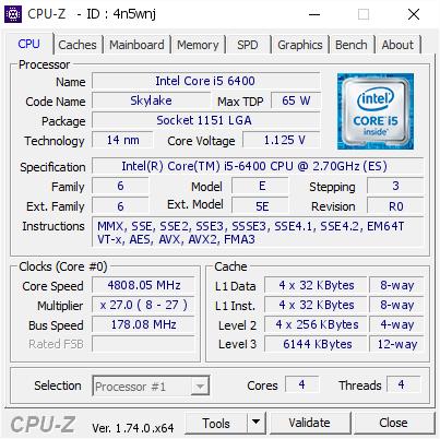 178 MHz BLCK mit einem Core i5-6400 unter LN2 (Bild: elmor)
