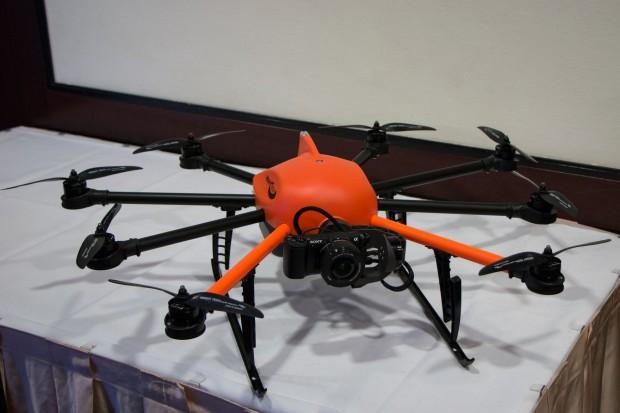 Der Octocopter Inspector S von Height Tech (Foto: Werner Pluta/Golem.de)